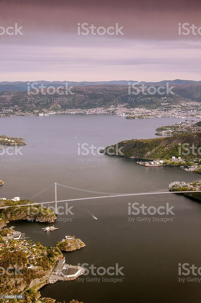 Bergen and the surrounding area. stock photo
