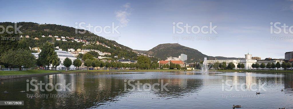 Bergen Centre stock photo