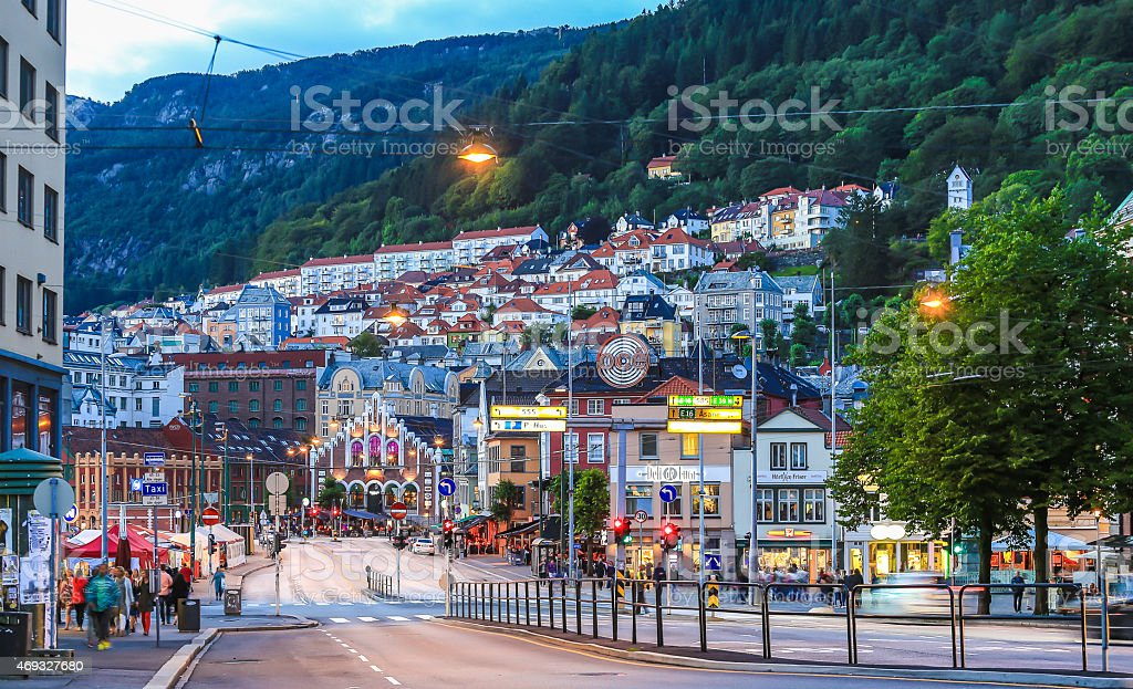 Bergen City Center stock photo