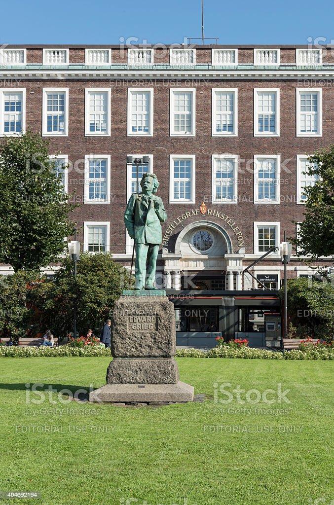 Bergen City Park (Byparken) was established after the 1855 fire stock photo