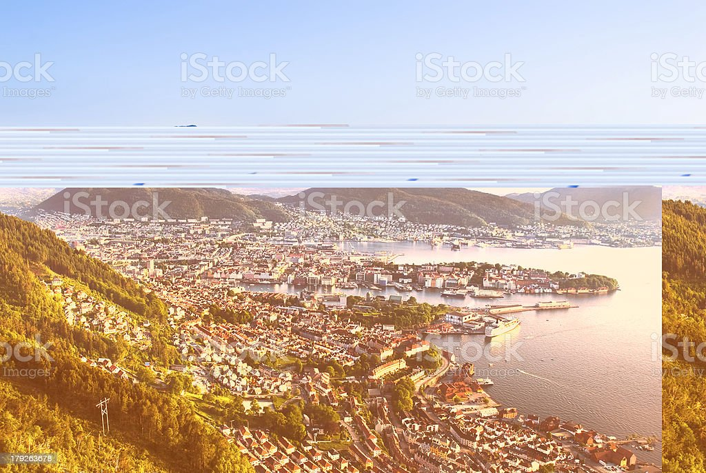 Bergen City stock photo