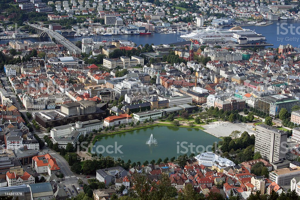 Bergen from above royalty-free stock photo