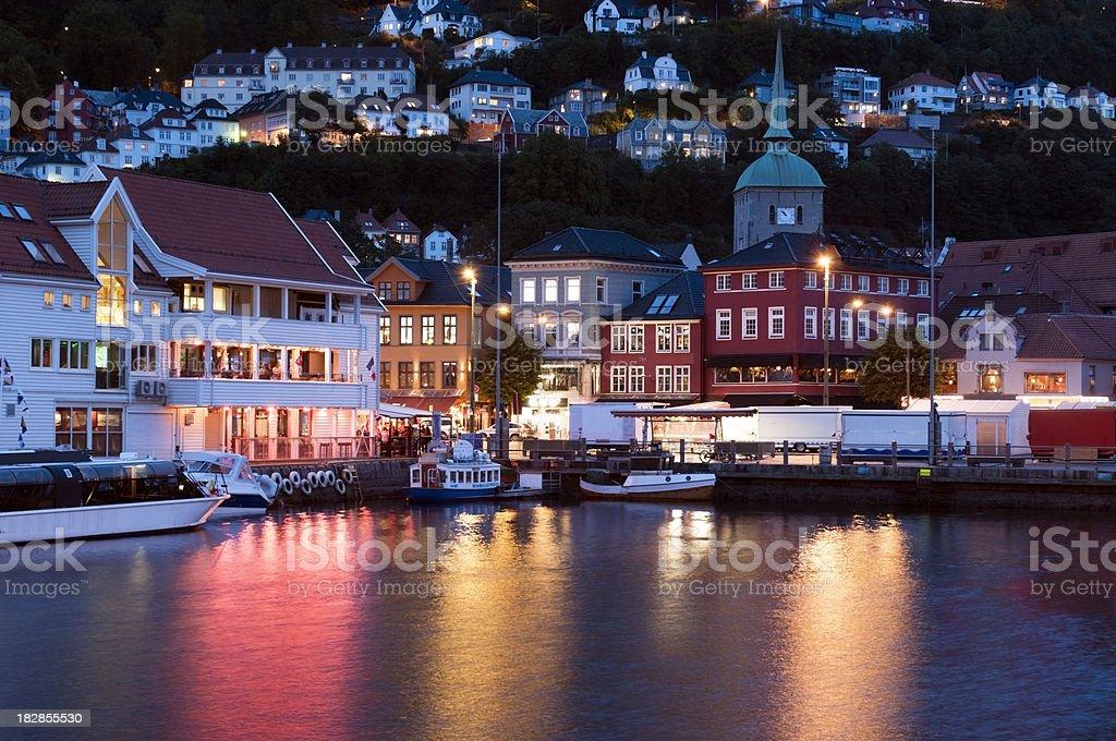 Bergen Harbor stock photo