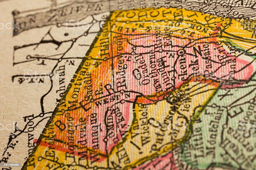 Bergen | New Jersey County Maps stock photo