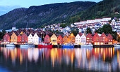 Bergen Night Scenery Norway