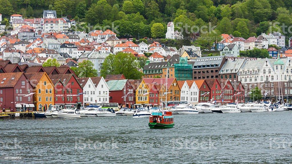Bergen Old Town - Bryggen stock photo
