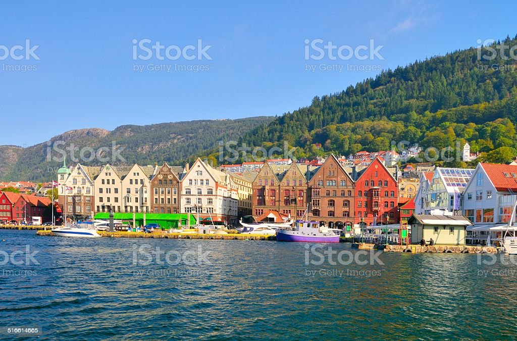 Bergen Old Town Waterfront stock photo