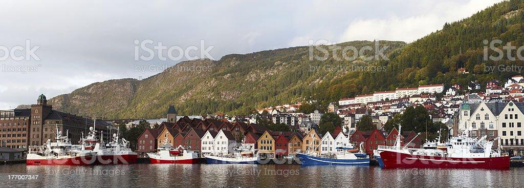 Bergen panorama royalty-free stock photo