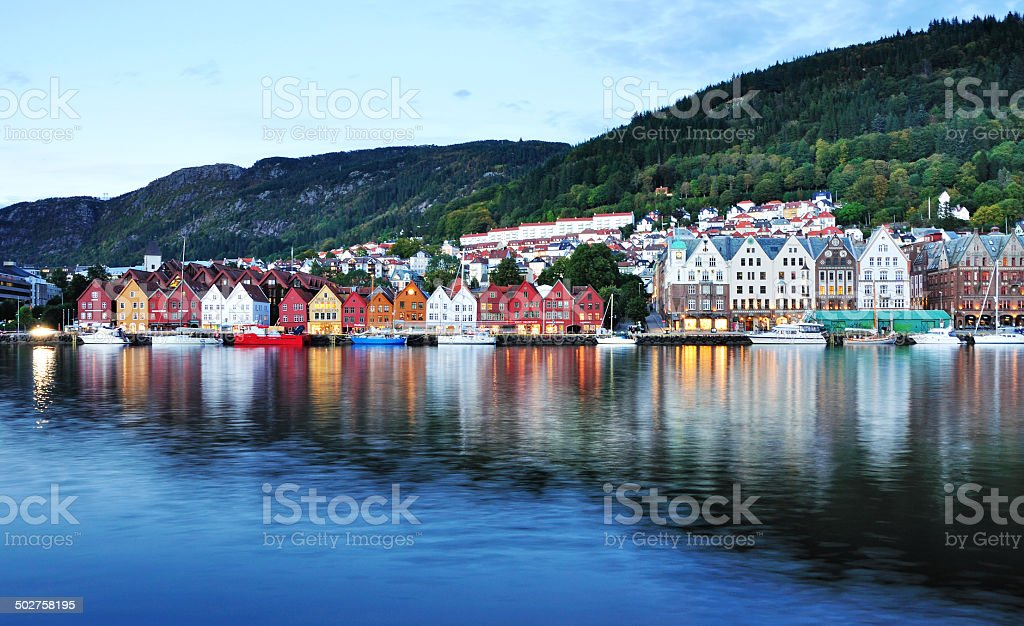Bergen Scenery Norway stock photo