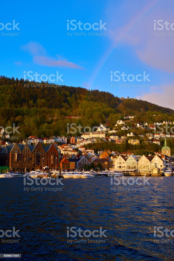 Bergen's port timber houses stock photo
