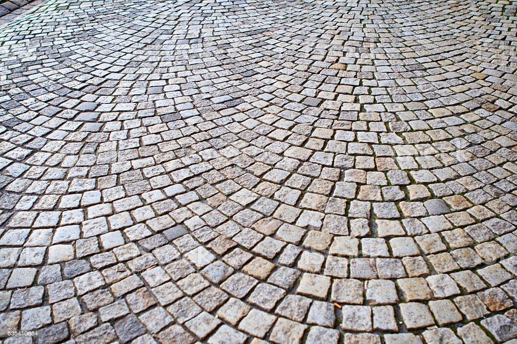 Bergen's Sett (paving) stock photo