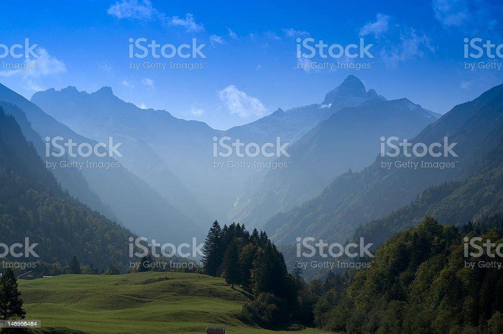 Berggipfel Trettachspitze im Allgäu Bayern stock photo