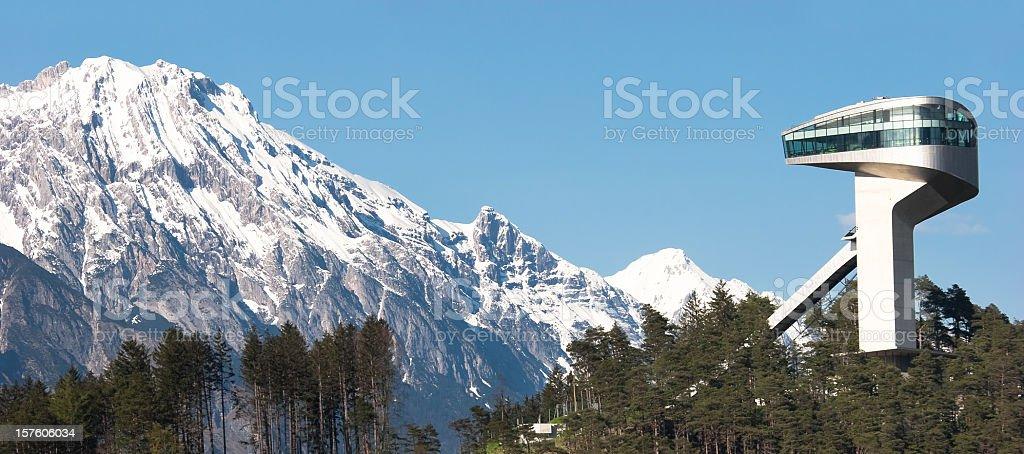 Bergisel Ski Jump royalty-free stock photo