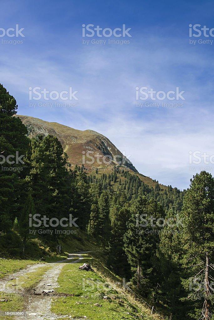 Bergkette im Spätsommer, Kühtai royalty-free stock photo