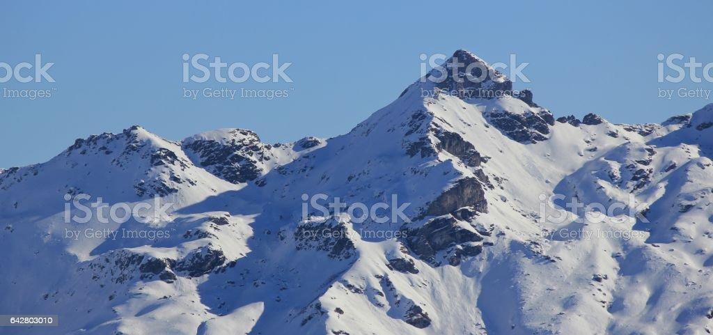 Berglihorn, mountain in Glarus Canton stock photo
