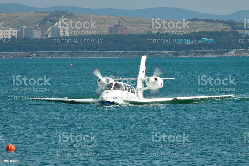 Beriev Be-103 amphibious plane stock photo