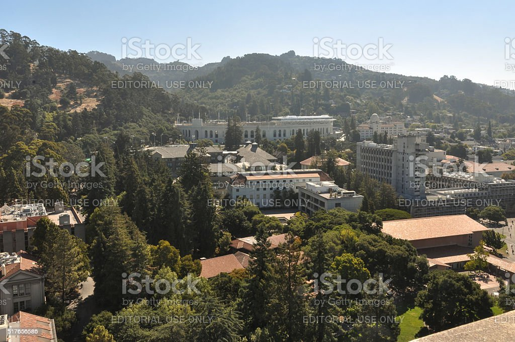 Berkeley and its hills, California stock photo
