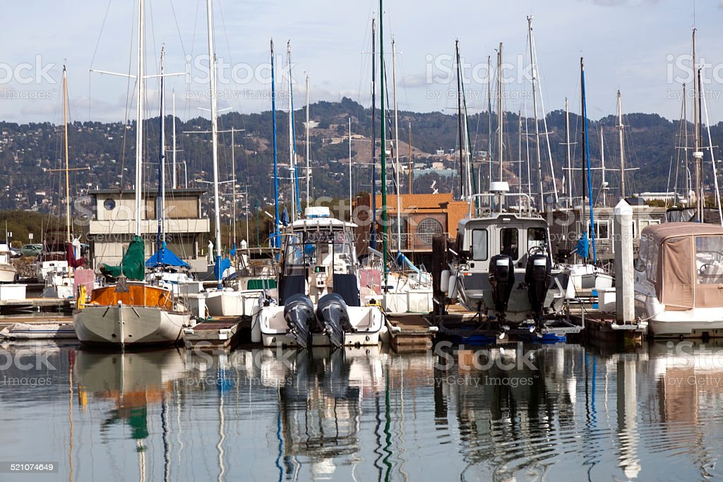 Berkeley Marina on San Francisco Bay stock photo