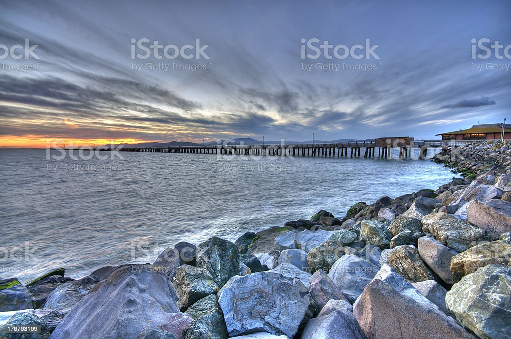Berkeley Marina Sunset View stock photo