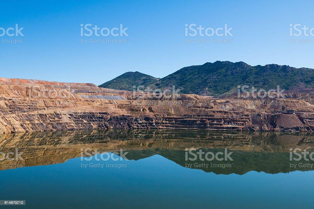 Berkeley Pit, Former Open Pit Mine in Butte, Montana stock photo