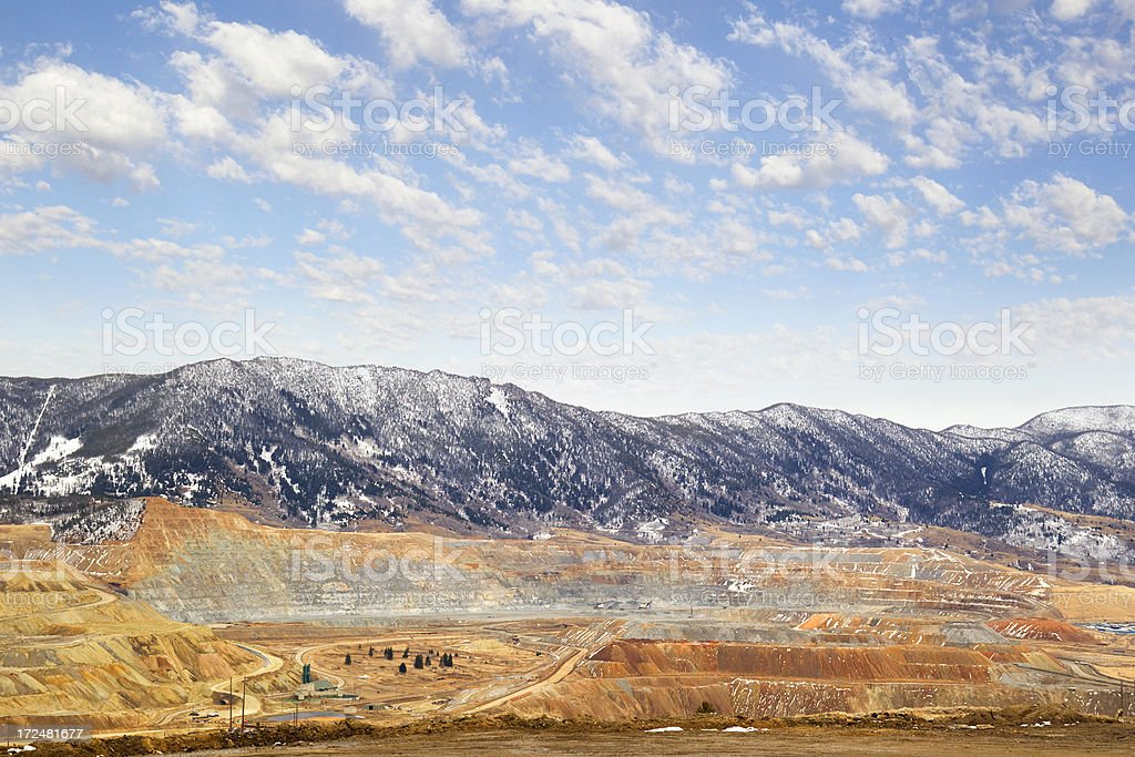 Berkeley Pit Mine - Butte, Monatana royalty-free stock photo