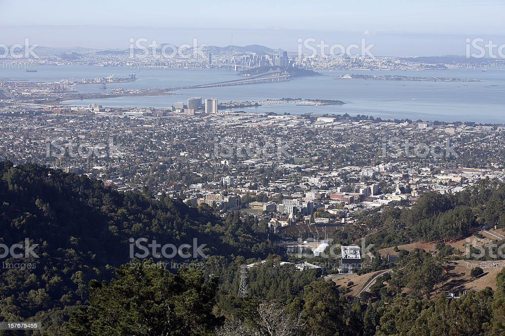 Berkeley, San Francisco And East Bay In The Morning stock photo