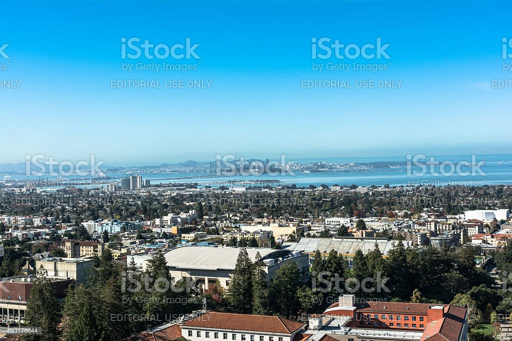 Berkeley view from the Campanile, California stock photo