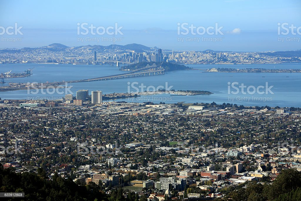 Berkeley,East Bay And San Francisco Skyline In The Morning stock photo