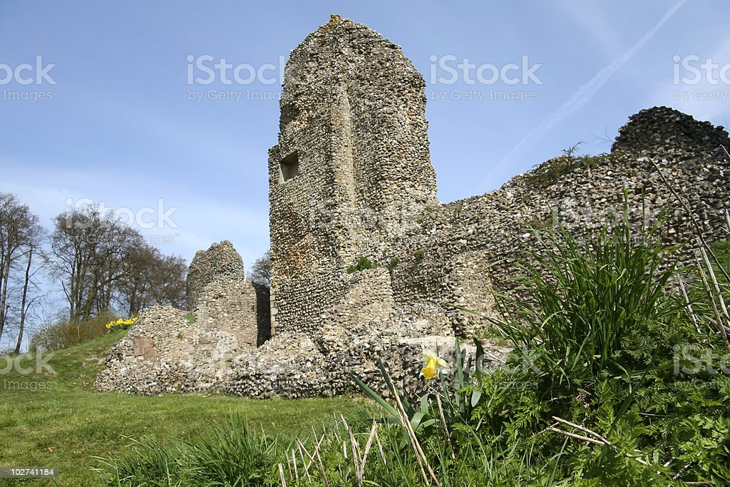 berkhamsted castle ruins hertfordshire england royalty-free stock photo