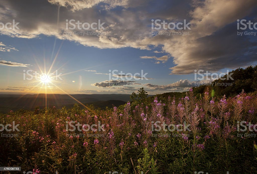 Berkshire Sunset stock photo