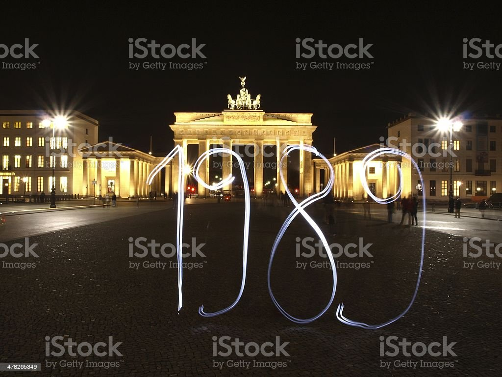 Berlin 1989 stock photo