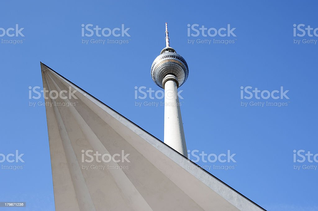 Berlin Alexanderplatz - Fernsehturm stock photo