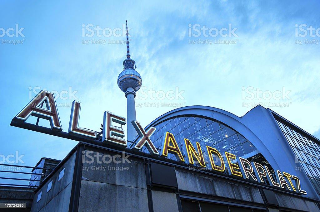 Berlin Alexanderplatz royalty-free stock photo