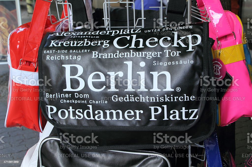 berlin bags in a souvenier store stock photo