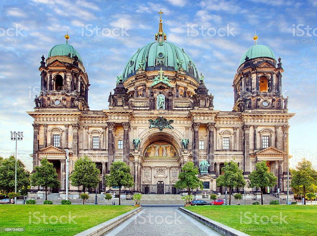 Berlin, Berliner dom at day, nobody stock photo