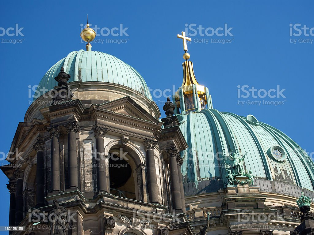 Berlin: Berliner Dom - detail of the dome stock photo
