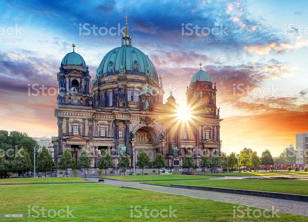 Berlin, Berliner dom stock photo
