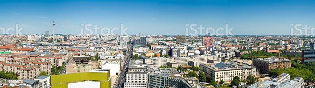 Berlin big cityscape blue sky royalty-free stock photo