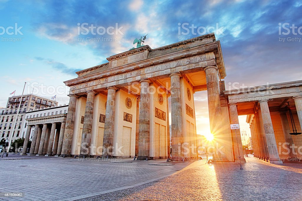 Berlin, Brandenburg gate, Germany stock photo