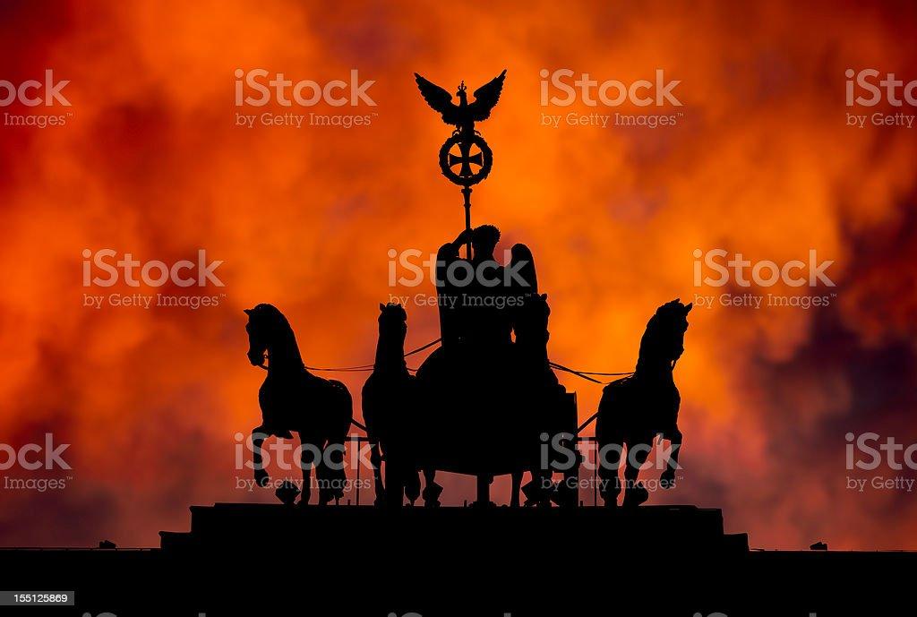 Berlin Brandenburg Gate Quadriga Statue stock photo