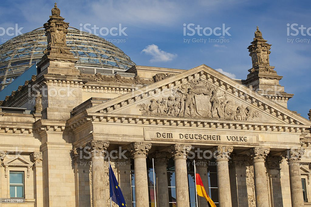 Berlin Bundestag stock photo
