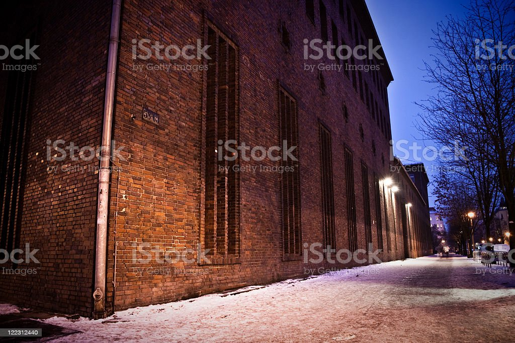 Berlin by Night during Winter royalty-free stock photo