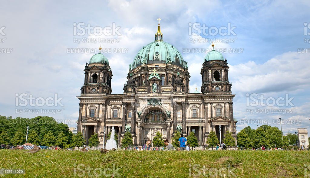 Berlin Cathedral and Am Lustgarten stock photo