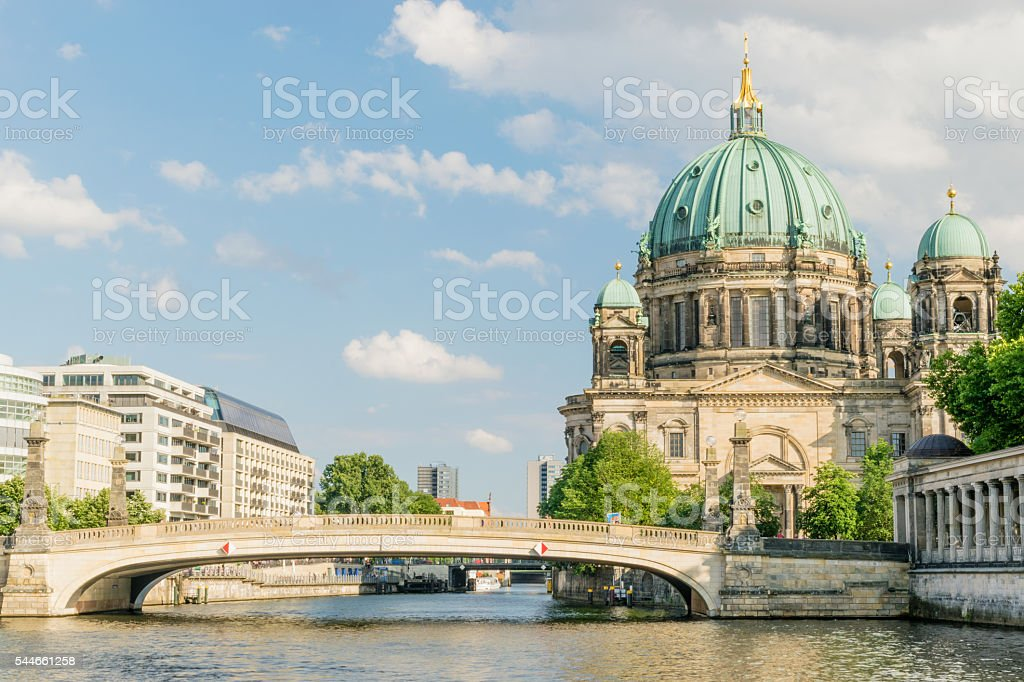 Berlin Cathedral at famous Museum Island, Germany stock photo