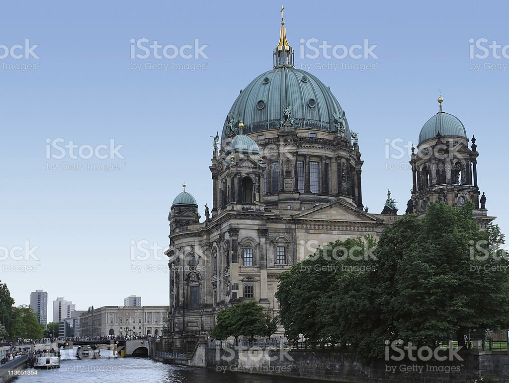 Berlin Cathedral at summer time royalty-free stock photo