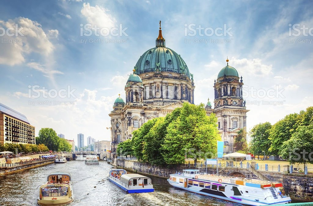 Berlin Cathedral. Berliner Dom, Germany stock photo