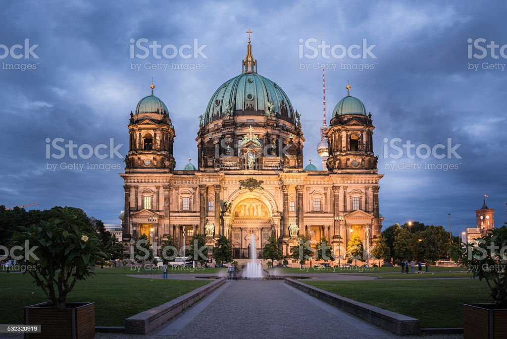 Berlin Cathedral - Berliner Dom Germany stock photo