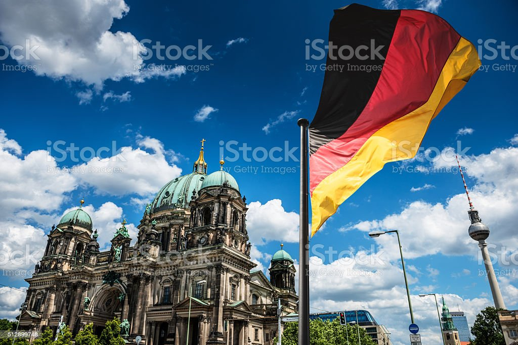 Berlin Cathedral dome - Germany stock photo