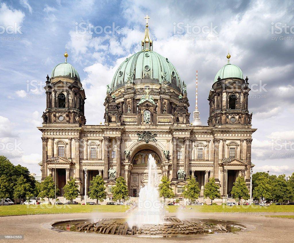 Berlin Cathedral Facade stock photo