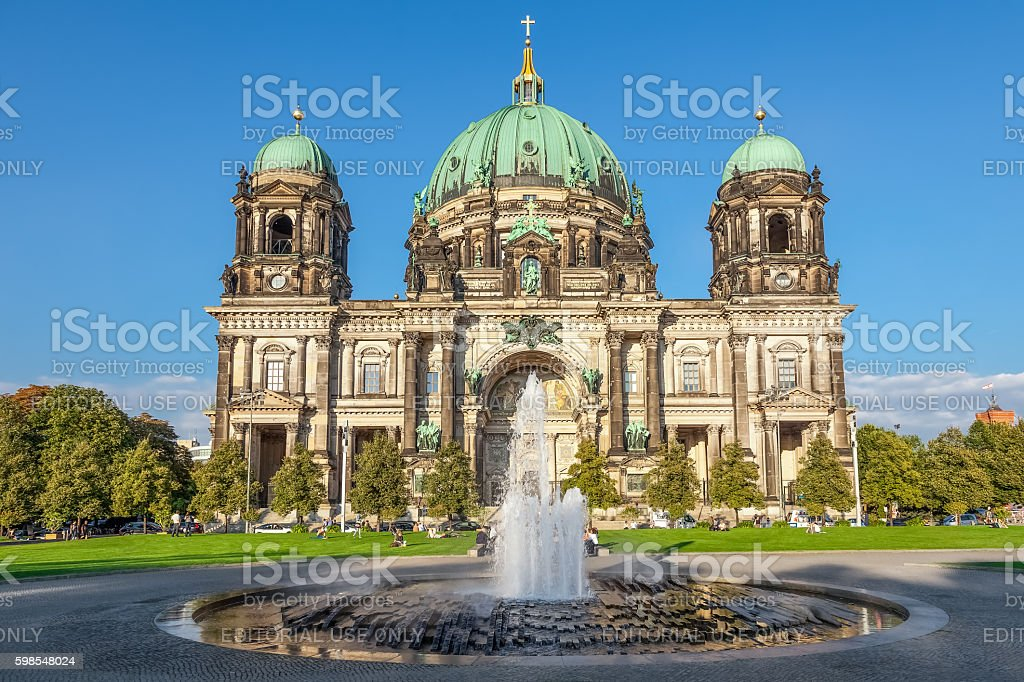 Berlin Cathedral, German Berliner Dom on Museum Island, Berlin, Germany stock photo
